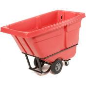 Rubbermaid® 1305 Standard Duty 1/2 Cu. Yd. Red Tilt Truck