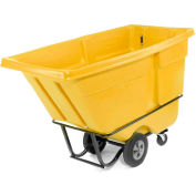 Rubbermaid® 1315 Standard Duty 1 Cu. Yd. Yellow Tilt Truck