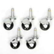Interion™ Stool Casters - Set Of 5