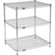 Printer Stand Chrome Wire 3 Shelves