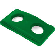 Bottle & Can Recycling Lid for Rubbermaid Recycling Container - Green