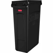 23 Gallon Rubbermaid Slim Jim Recycling Container - Black