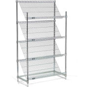 "Slant Wire Shelving - 4 Shelves - 48""W x 18""D x 63""H"