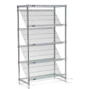 "Slant Wire Shelving - 5 Shelves - 48""W x 24""D x 54""H"