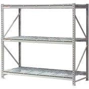 "Extra High Capacity Bulk Rack With Wire Decking 96""W x 24""D x 120""H Starter"