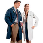 Unisex Lab Coat - Navy, M