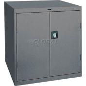 Sandusky Elite Series Counter Height Storage Cabinet EA2R361842 - 36x18x42, Charcoal