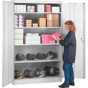 Lyon Storage Cabinet DD1081  - 36x18x78 - Gray