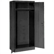 Lyon Wardrobe Storage Cabinet KK1096  - 36x24x78 - Black