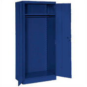 Lyon Wardrobe Storage Cabinet BB1095  - 36x24x78 - Blue