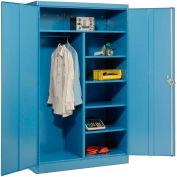 Lyon Combination Storage Cabinet BB1033  - 48x24x78 - Blue