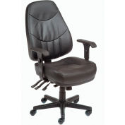 Interion™ - Executive Leather Chair With Multifunctional Adjustments