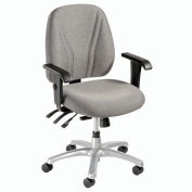 8-Way Adjustable Ergonomic Chair With Arms - Gray