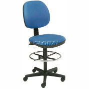 Interion™ Value Stool With  Pneumatic Height Adjustment - Blue