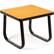 """OFM 20"""" End Table with Sled Base, Oak"""