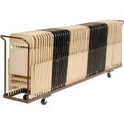 Folding Chair Cart Holds 54