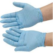 Industrial Grade Disposable Nitrile Gloves, Powdered, Medium, Blue, 100/Box, GNDR-MD-1M
