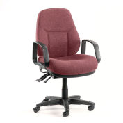 Low Back Chair Burgundy