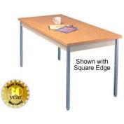 "Oak Activity Table - Radius Edge Top - 36""W X 72""L"