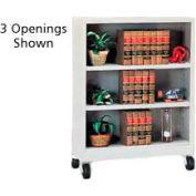 "Sandusky Steel Mobile Bookcase 36""W x 18""D x 36""H - Gray"