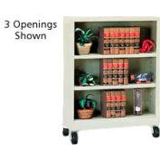 "Sandusky Steel Mobile Bookcase 36""W x 18""D x 36""H - Putty"