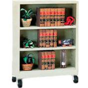 "Sandusky Steel Mobile Bookcase 36""W x 18""D x 48""H - Putty"
