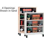 "Sandusky Steel Mobile Bookcase 36""W x 18""D x 58""H - Putty"