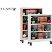 "Sandusky Steel Mobile Bookcase 36""W x 18""D x 58""H - Sand"
