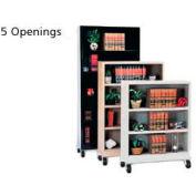 "Sandusky Steel Mobile Bookcase 36""W x 18""D x 78""H - Black"