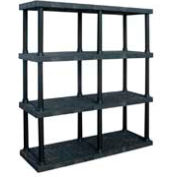 """Structural Plastic Vented Shelving, 66""""W x 24""""D x 75""""H, Black"""