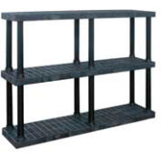 "Structural Plastic Vented Shelving, 66""W x 16""D x 51""H, Black"