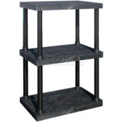 "Structural Plastic Adjustable Vented Shelving, 36""W x 24""D x 45""H, Black"