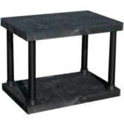"""Structural Plastic Vented Shelving, 36""""W x 24""""D x 27""""H, Black"""