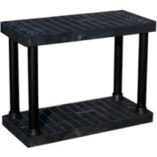 """Structural Plastic Vented Shelving, 36""""W x 16""""D x 27""""H , Black"""
