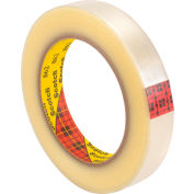"3M™ Scotch® 862 Reinforced Strapping Tape 3/4"" x 60 Yds. 4.6 Mil Clear - Pkg Qty 48"