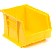 Quantum Plastic Stacking Bin QUS239 8-1/4 x 10-3/4 x 7 Yellow - Pkg Qty 6