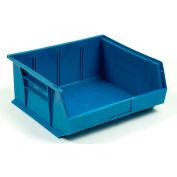 Quantum Plastic Stacking Bin QUS250 16-1/2 x 14-3/4 x 7 Blue - Pkg Qty 6