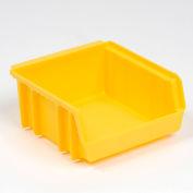 Plastic Stacking Bin 4 1/8x4 1/4x2 Yellow - Pkg Qty 48