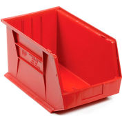 Premium Plastic Storage Bin - Small Parts QUS255 11 x 16 x 8 Red - Pkg Qty 4