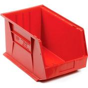 Premium Plastic Storage Bin - Small Parts QUS255 11 x 16 x 8 Red - Pkg Qty 4