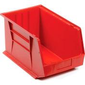Quantum Plastic Storage Bin - Small Parts QUS260 11 x 18 x 10 Red - Pkg Qty 4