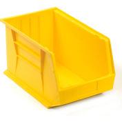 Premium Plastic Storage Bin - Parts Storage Bin QUS260 11 x 18 x 10 Yellow - Pkg Qty 4