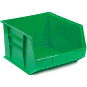 Plastic Stackable Bin QUS270 16-1/2 x 18 x 11 Green - Pkg Qty 3