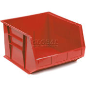 Plastic Storage Bin - Small Parts QUS270 16-1/2 x 18 x 11 Red - Pkg Qty 3