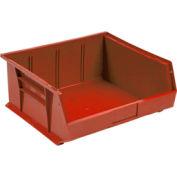 Quantum Plastic Storage Bin - Small Parts QUS245 16-1/2 x 10-7/8 x 5 Red - Pkg Qty 6