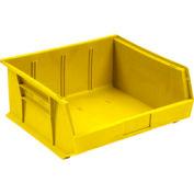 Quantum Plastic Storage Bin - Parts Storage Bin QUS245 16-1/2 x 10-7/8 x 5 Yellow - Pkg Qty 6