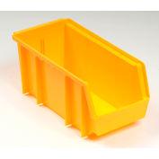 Plastic Stacking Bin 8-1/4x11x7 Yellow - Pkg Qty 6