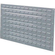Louvered Wall Panel Without Bins 36x19 Gray - Pkg Qty 4