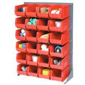 Global Industrial™ Singled Sided Louvered Bin Rack 35 x 15 x 50 - 48 Red Premium Stacking Bins