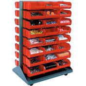 Double-Sided Mobile Rack with Bins